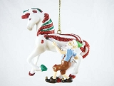 Candy Coated Treat Pony - Hanging Resin Christmas Ornament - Holiday 2018 Trail of Painted Ponies